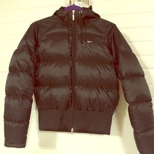 Nike puffy black jacket